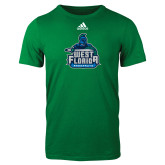 Adidas Kelly Green Logo T Shirt-West Florida Argonauts