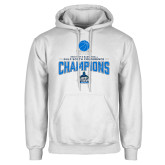 White Fleece Hoodie-2018 South Conference Mens Basketball Champions