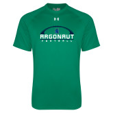 Under Armour Kelly Green Tech Tee-Football Design