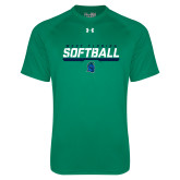 Under Armour Kelly Green Tech Tee-Softball Design