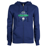 ENZA Ladies Royal Fleece Full Zip Hoodie-2017 Volleyball Champions