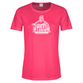 Ladies Performance Hot Pink Tee-West Florida Argonauts