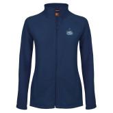 Ladies Fleece Full Zip Navy Jacket-West Florida Argonauts
