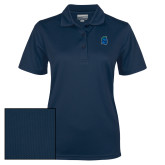 Ladies Navy Dry Mesh Polo-Argonaut Head