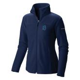 Columbia Ladies Full Zip Navy Fleece Jacket-Argonaut Head
