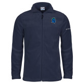 Columbia Full Zip Navy Fleece Jacket-Argonaut Head