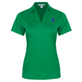 Ladies Kelly Green Performance Fine Jacquard Polo-Argonaut Head