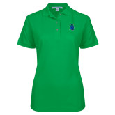 Ladies Easycare Kelly Green Pique Polo-Argonaut Head