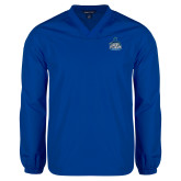 V Neck Royal Raglan Windshirt-West Florida Argonauts