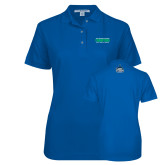Ladies Easycare Royal Pique Polo-NCAA Division II National Champions 2017 Mens Tennis