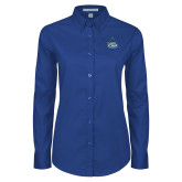 Ladies Royal Twill Button Down Long Sleeve-West Florida Argonauts