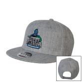 Heather Grey Wool Blend Flat Bill Snapback Hat-West Florida Argonauts