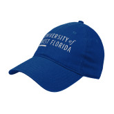 Royal Twill Unstructured Low Profile Hat-University of West Florida Stacked