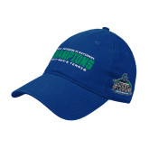 Royal Twill Unstructured Low Profile Hat-NCAA Division II National Champions 2017 Mens Tennis