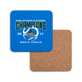 Hardboard Coaster w/Cork Backing-NCAA Division II National Champions 2017 Mens Tennis