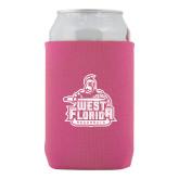 Neoprene Hot Pink Can Holder-West Florida Argonauts
