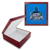 Red Mahogany Accessory Box With 6 x 6 Tile-West Florida Argonauts