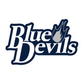 Medium Decal-Blue Devils Stacked, 8 inches wide