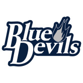 Extra Large Decal-Blue Devils Stacked, 18 inches wide