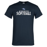 Navy T Shirt-Distressed Softball