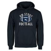 Navy Fleece Hoodie-Football Distrssed
