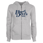 ENZA Ladies Grey Fleece Full Zip Hoodie-Hockey