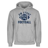 Grey Fleece Hoodie-Football Distrssed