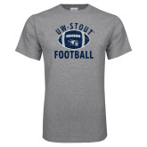Grey T Shirt-Football Distrssed