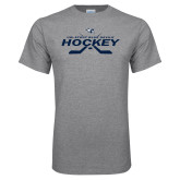Grey T Shirt-Hockey Cross Sticks