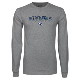 Grey Long Sleeve T Shirt-Football Yards Design