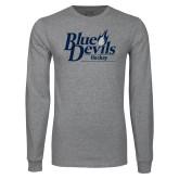 Grey Long Sleeve T Shirt-Hockey