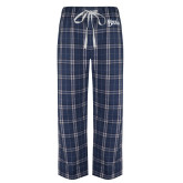 Navy/White Flannel Pajama Pant-Blue Devils Stacked