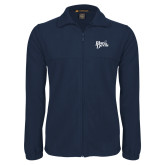 Fleece Full Zip Navy Jacket-Blue Devils Stacked