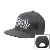 Charcoal Flat Bill Snapback Hat-Primary Mark