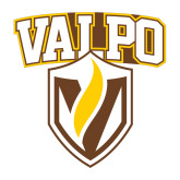 Medium Decal-Stacked Valpo Shield, 8 inches tall