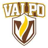 Large Decal-Stacked Valpo Shield, 12 inches tall