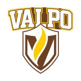 Small Decal-Stacked Valpo Shield, 6 inches tall
