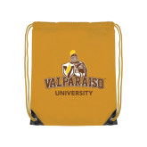 Gold Drawstring Backpack-Valparaiso University