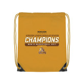 Gold Drawstring Backpack-2017 Mens Basketball Champions