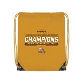 Gold Drawstring Backpack-2017 Mens Basketball Champions