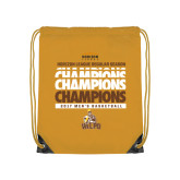 Gold Drawstring Backpack-2017 Mens Basketball Champions Repeating