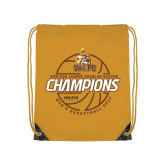 Gold Drawstring Backpack-2017 Mens Basketball Champions Basketball