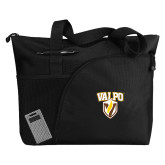 Excel Black Sport Utility Tote-Stacked Valpo Shield