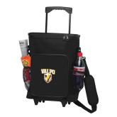 30 Can Black Rolling Cooler Bag-Stacked Valpo Shield