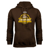 Brown Fleece Hoodie-2017 Mens Basketball Champions Basketball Ribbon