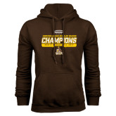 Brown Fleece Hoodie-2017 Mens Basketball Champions