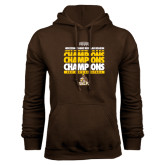 Brown Fleece Hoodie-2017 Mens Basketball Champions Repeating