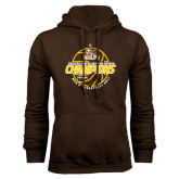 Brown Fleece Hoodie-2017 Mens Basketball Champions Basketball
