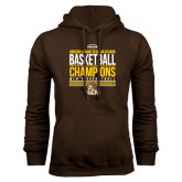 Brown Fleece Hoodie-2017 Mens Basketball Champions Stacked