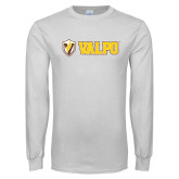 White Long Sleeve T Shirt-Flat Valpo Shield